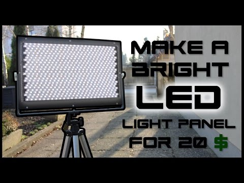 How To Make A Bright LED Panel For 20$