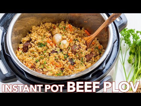 How To Make Instant Pot Rice (Beef Plov Recipe)