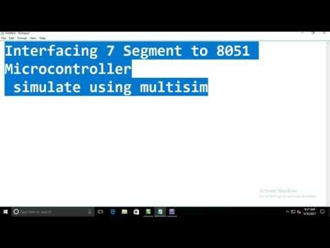 Interfacing seven segment to 8051