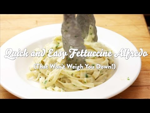 Quick and Easy Fettuccine Alfredo