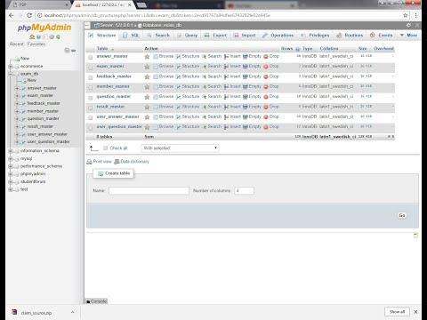 Online Examination System -  PHP, MySQL Installation, Database Configuration and Demo