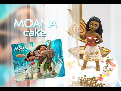 ::sugarcraft::Disney moana cake tutorial모아나케이크 만들기