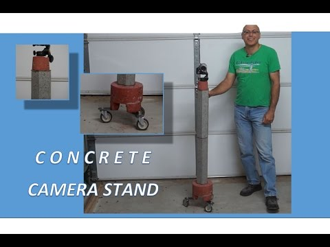 📷  Rolling Concrete Camera Stand