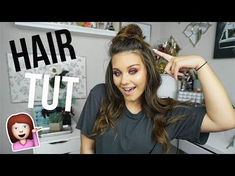 HOW I CURL MY THIN HAIR + Top Knot Tut | Nicole Cutler