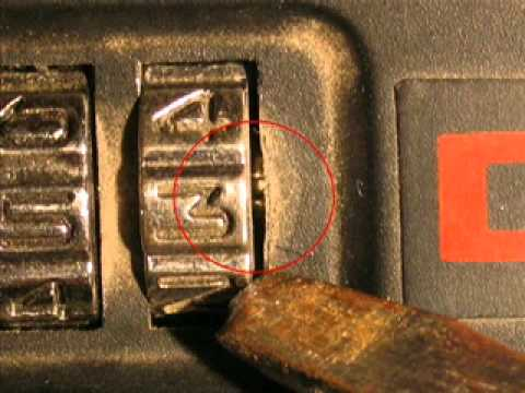 How To Find The Numbers To Open A Combination Padlock