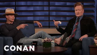 Timothy Olyphant Promises Not To Interrupt Conan - CONAN on TBS