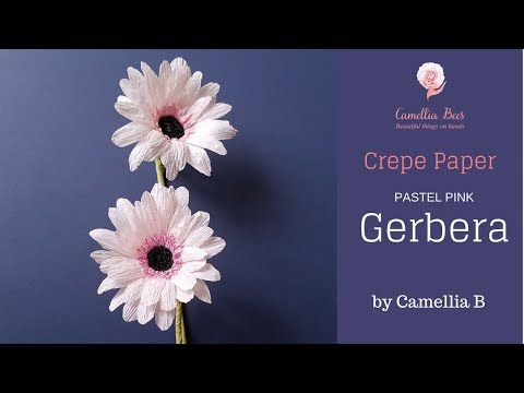 DIY - How to make Paper Gerbera flower from crepe paper - Easy and realistic
