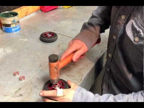 How To Remove And Install Scooter Bearings Part 1  (Hammer)