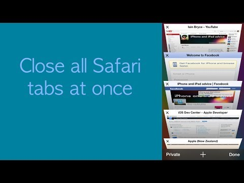Close all iOS 7 Safari tabs at once