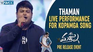 Thaman LIVE Performance for Kopamga Song | Mr Majnu Pre Release Event | Akhil Akkineni | Jr NTR