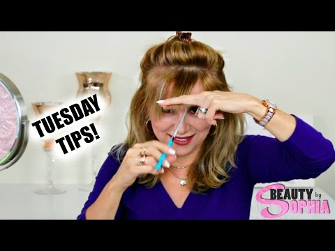 TUESDAY TIPS Over 50 | #8 How-To Trim Side-swept Bangs