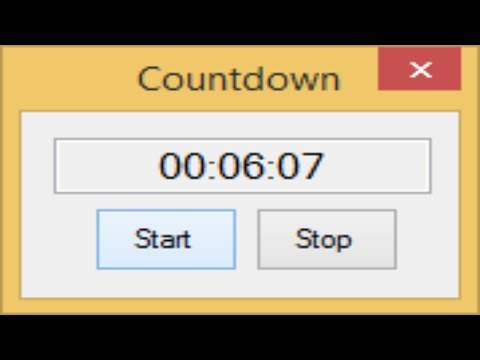 C# Tutorial - How to make a Countdown Timer | FoxLearn