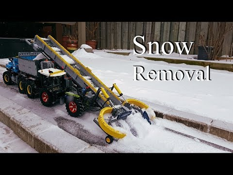 Snow Removal Tractor -Lego Claas Xerion 5000 and 6x6 Tow Truck