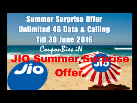 JIO PRIME SUMMER SURPRISE OFFER Launched | Free Unlimited Data for 3 Months Till JULY 2017[Hindi]