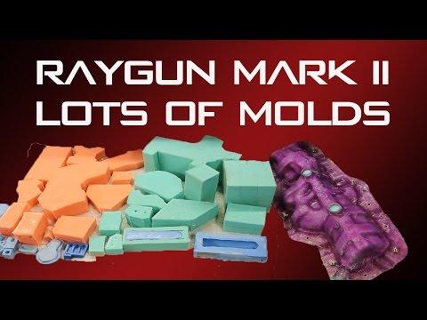 Raygun Mark 2 replica prop build #5 | Lots of molds