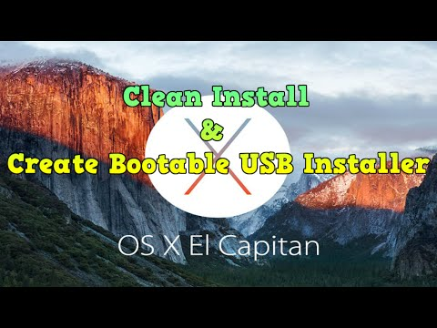 How To Clean Install OS X El Capitan 10.11 & Create Bootable USB Installer