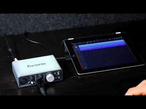 Focusrite iTrack Solo iPad Audio Interface Audio Demonstration