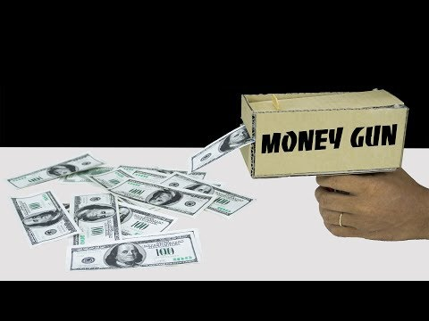 How to Make Awesome MONEY GUN from Cardboard