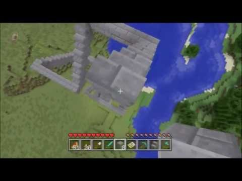 Minecraft Xbox 360 1.8.2 #20 - Stone Brick and Slabs, Lots of Falling Damage