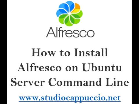 How to install alfresco on ubuntu server command line