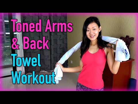 Toned Arms & Back Towel Workout (No Weights!)