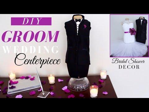 DIY WEDDING DECORATIONS | DIY GROOM CENTERPIECE TUTORIAL