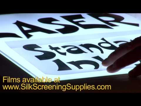 Film positives for Yudu machine, Transparency sheets for Yudu Printing