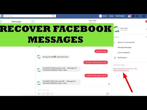 How to recover Deleted Facebook Messages? Hidden Function