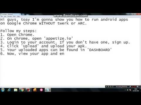 How to run Android Apps on Google Chrome without Twerk or ARC Welder 100% WORKING!