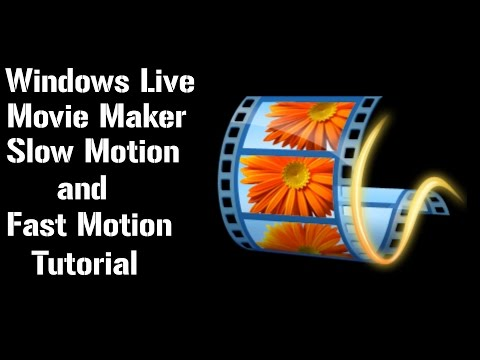 How to put Videos into Slow Motion Using Window Live Movie Maker (Simple)