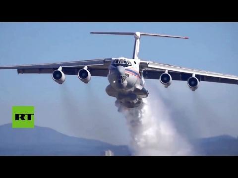 'El Luchín' Il-76 ruso salva de las llamas a dos grandes ciudades en Chile