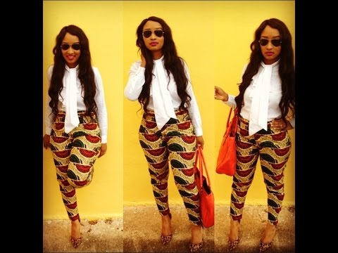 DIY: Ankara Cigarette Pants