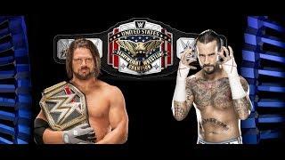 CM Punk Returning AJ Styles Retiring After WrestleMania 34 New WWE United States Title Design