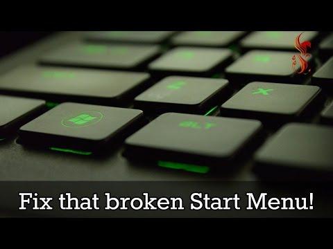 How to fix the broken start menu in Windows 10