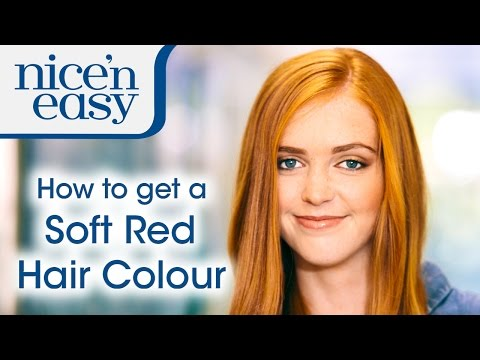 How to Get a Natural Looking Soft Red Hair Colour at Home with Nice 'n Easy