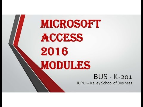 Access 2016 Module 5 Part 16-Long Text and Trusted Folder-1080p