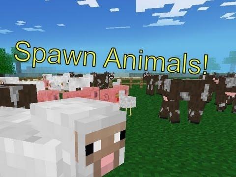 Minecraft Pocket Edition 0.6.1- Spawning Animals Mod!