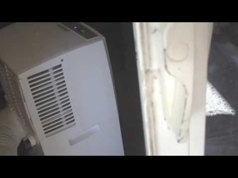 INSTALLING A PORTABLE A/C IN A SLIDING GLASS DOOR