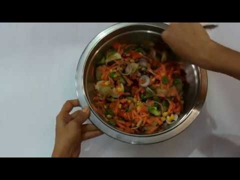 How to make Mexican salad |Mixed veg salad|colourful salad for kids in kannada