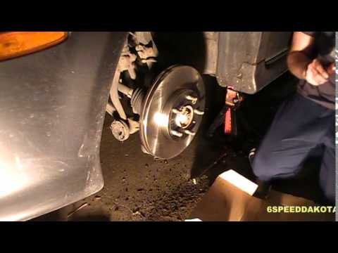 How to Replace Brake Pads and Rotors on a 2004 Mazda 6: Part 1: Front Brakes