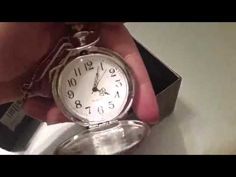 Mudder Vintage Silver Stainless Steel Quartz Pocket Watch Necklace Chain Review