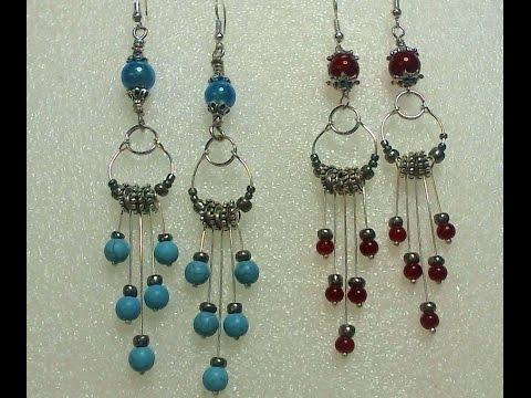 Fancy Long Dangle Earrings