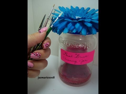 DIY Paint Brush Cleaning Jar & Demo