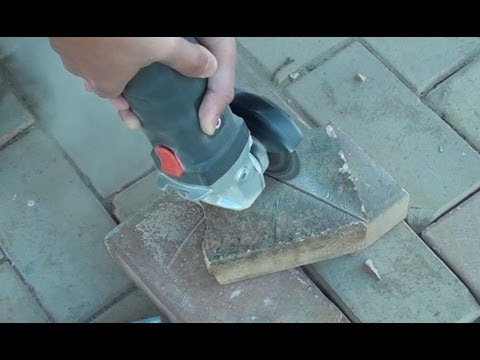 How to Cut Complex Brick Pattern Using a Grinder