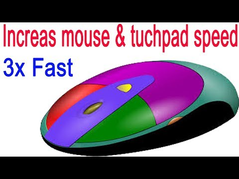 How to increase mouse pointer speed on winodws 10/8/7 and touch pad make computer fast