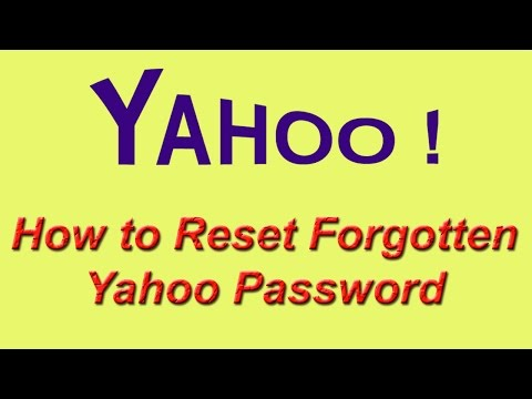 How to Reset Forgot Yahoo Password |
