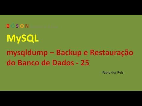 MySQL - mysqldump - Backup e Restauração do Banco de Dados - 25