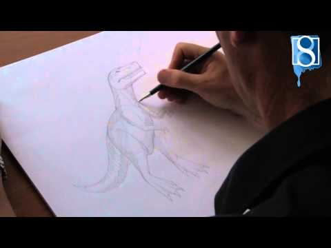 How to Draw a Dinosaur step-by-step by Mark Bergin