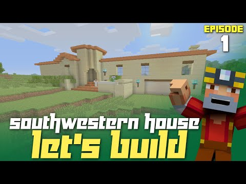 Minecraft Xbox One: Let's Build a Southwestern House - Part 1! (GTA Inspired)