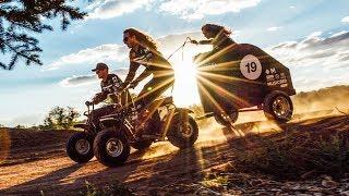 Mini Bike Chariot Racing at 33.4 MPH!